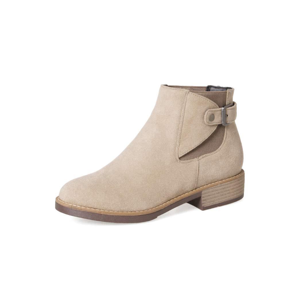 Frauen College College College Style Einfache Stiefeletten 2018 Herbst Blockabsatz Wildleder Martin Stiefel Größe 31-43 461455