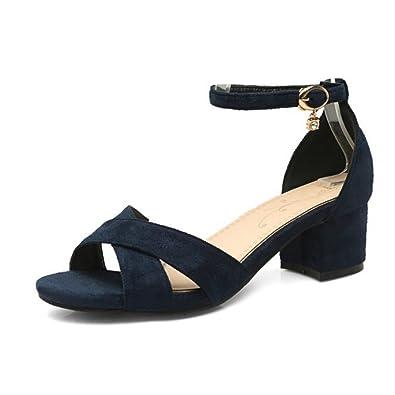 SJJH Damen Fashion Pumps mit Blockabsatz Gemütlich Schuhe f4ebjq78t