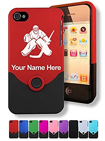 Case for iPhone 4/4s - Hockey Goalie - Personalized Engraving Included (Personalized Iphone 4s Phone Case)