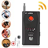RF Signal Detector P-Jing Anti-Spy Wireless Bug Detector, Hidden Camera Pinhole Laser Lens GSM Device Finder,Full-Range All-Round Portable Detector Eavesdropping Candid Video GPS Tracker Laser