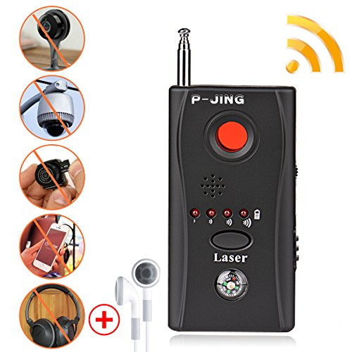 Camera Finder Spy (Anti Spy Bug Detector,P-JING RF Signal Wireless Probe Detector - 100Mhz~3000MHZ Full Frequency Detection Ultra-high Portable Sensitivity Full-Range Tracker Finder Hidden Camera Pinhole Laser Lens GSM)