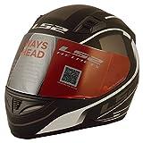 LS2 Nighter Breaker Matt Black White Full Face Helmet with Mirror Visor (Unisex, Black and White, Large)