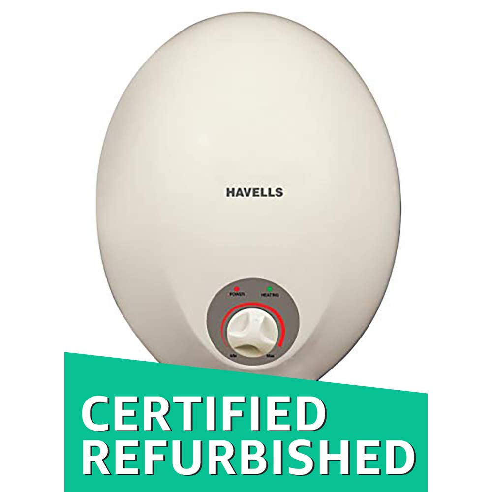 (Renewed) Havells Opal GHWEOPTPW006 6-Litre Water Heater (Pearl/White)