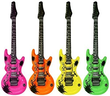 54961dcba494a 楽器おもちゃ ギターバルーン 風船 パーティー 二次会 誕生日プレゼント 子どもおもちゃ 4個セット (