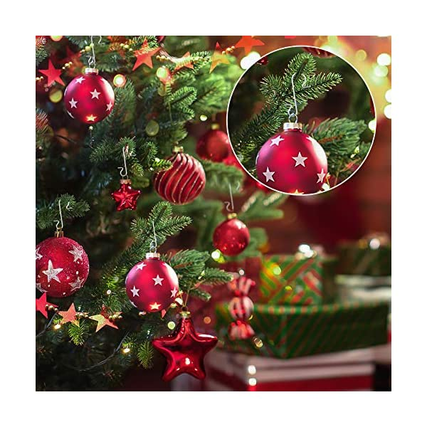 Kiiwah 200 Pezzi S Hooks Ganci Palle Natale, Ganci per Ornamenti Appendere in Metallo Albero di Natale Decorazioni per Feste di casa (Argento) 4 spesavip