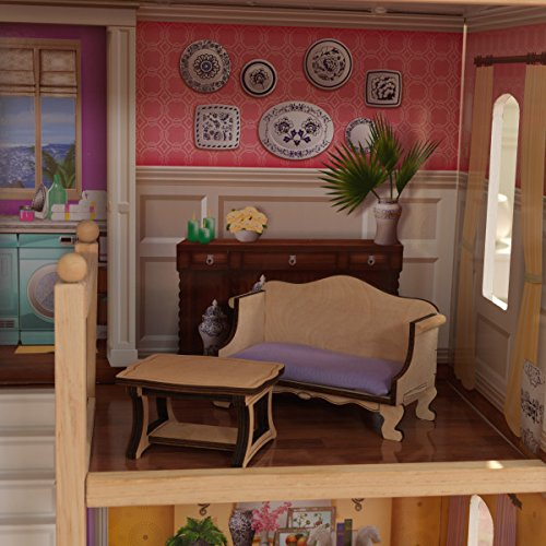 51HXBuuRRHL - KidKraft So Chic Dollhouse with Furniture