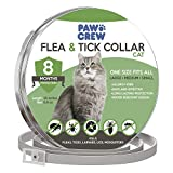 PAWCREW Cat Collar Pet Essential Oil Pest Control Collars Flea Tick Prevention Kitten