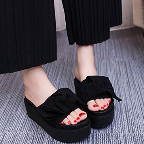 42994ed1203081 Women s Bowknot Wedge Sandal