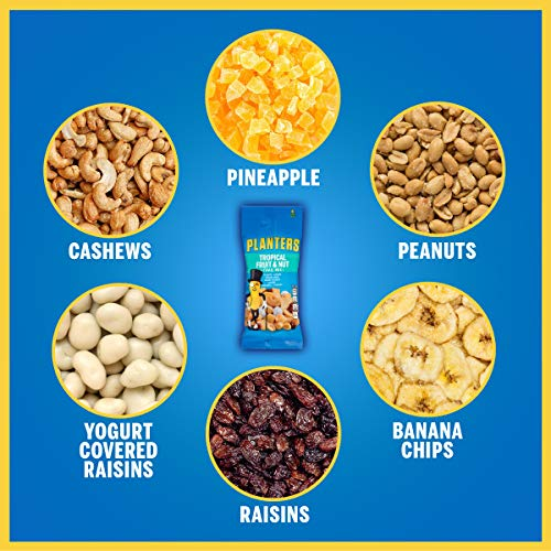 PLANTERS Fruit and Nut Trail Mix, 2 oz Single Serve Bags (Pack of 72) - Trail Mix Snack Pack for On the Go Snacking - Great After School Snack, Movie Snack or Active Lifestyle Snack - Kosher Snack