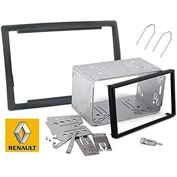 Kit de montaje de radio de coche de 2 dines para Renault Megane 2 con carcasa: Amazon.es: Coche y moto