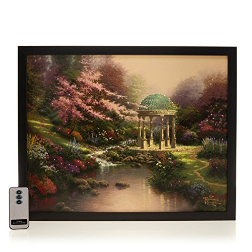 Fiber Optic Waterfall - TK Thomas Kinkade Pools of Serenity Fiber Optic Lit Canvas Art With Remote