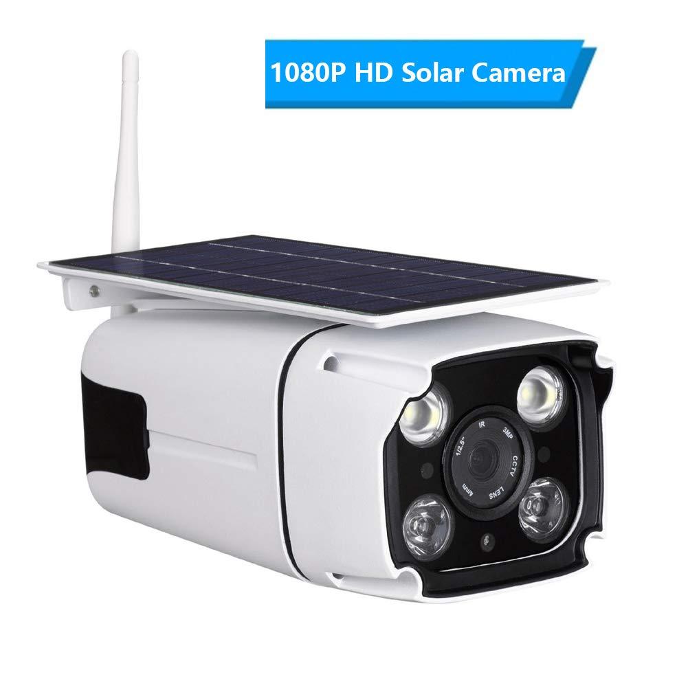 防水多機能無線WIFI IPの太陽エネルギーのカメラ1080P HDを改善して下さい誘導LEDライト付き、双方向音声インターホン One、IR暗視、PIR動き検出、64Gメモリカード付き,One One B07MCJ14YN B07MCJ14YN, 美陽堂 BIYOUDO:dca61800 --- ero-shop-kupidon.ru