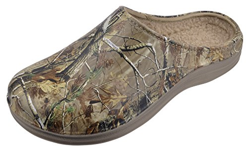 Realtree Mens Camouflage Clog Slip-on Shoe With Lining, 13 US, Camouflage Pattern