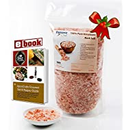 Pure Himalayan Salt by Dynamic Chef, Pink Rock Salt, Essential Trace Minerals, Plus RECIPE EBOOK, 1 lb, 450 g bag
