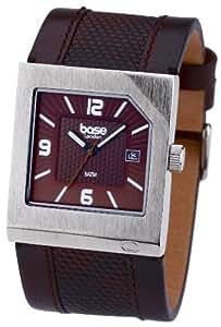 Base London H278.03BL - Reloj de caballero de cuarzo con correa de piel marrón - sumergible a 50 metros