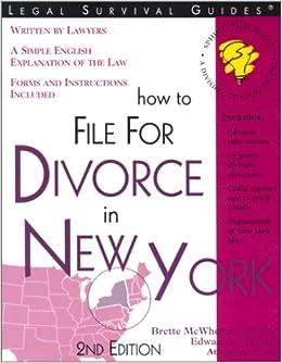 How To File For Divorce In New York Brette McWhorter Sember 9781572481411 Amazon Books