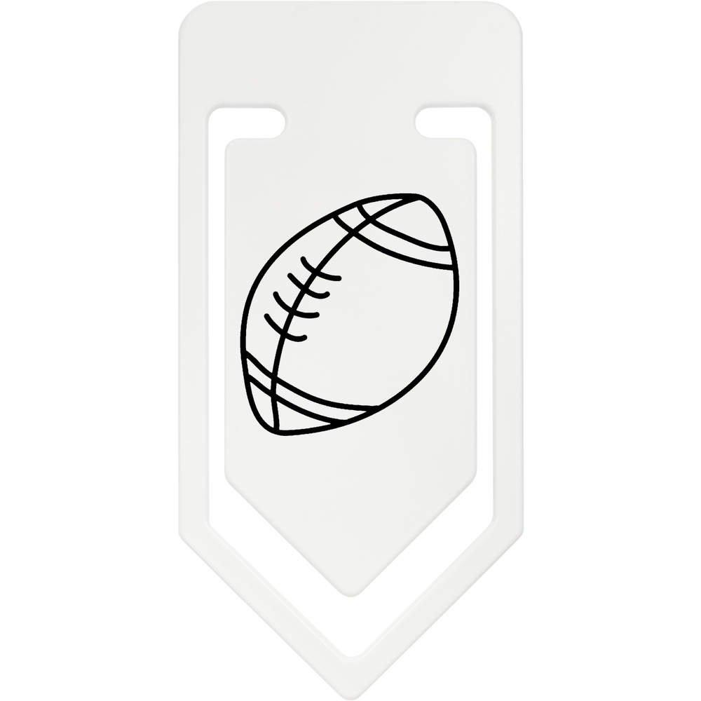 Azeeda 141mm Pelota de Rugby Clip de Papel Plástico Gigante ...