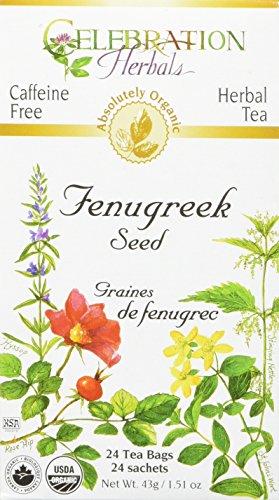 CELEBRATION HERBALS Fenugreek Seed Organic 24 Bag, 0.02 Pound