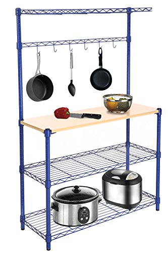 Homdox Funcational Shelving Microwave Kitchen