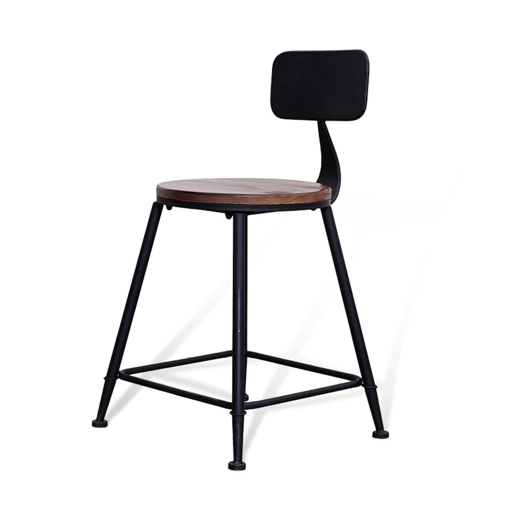 ERRU- アメリカのソリッドウッドバースツールカフェティーショップアイアンアート45センチメートルハイレジャーチェアバーチェアに座って バーチェア ( 色 : ウッド うっど , サイズ さいず : 5 piece ) B07C3NYCMK 5 piece ウッド うっど ウッド うっど 5 piece