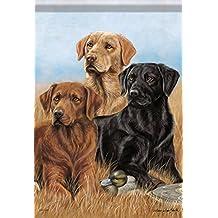 "The Pros Lab House Flag Dog Labrador Retriever Geese Double Sided 28""x40"""