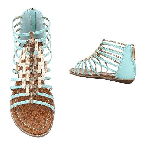 Ital-Design - Sandalias de vestir de Material Sintético para mujer azul claro