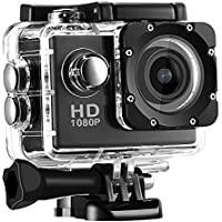 JOYCAM HD 1080P Sport Action Camera 30M Waterproof Wide Degree View Angle with Mounts and Accessories