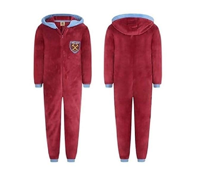 West Ham Football Club - Pijama de una Pieza - para Hombre Marrón Rojo (Maroon