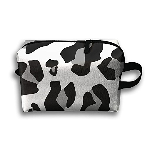 Travel Bags Black White Leopard Portable Storage Bag Clutch Wallets Cosmetic Bags Organizer Zipper Hangbag Carry -