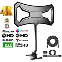 BigSK Outdoor 180Miles Amplified TV Antenna - Upgraded HDTV Antenna Long Range Omni-Directional with Pole Mount High Difinition Digital TV Antenna for 4k 1080p FM/VHF/UHF 32Ft RG6 Copper Cable