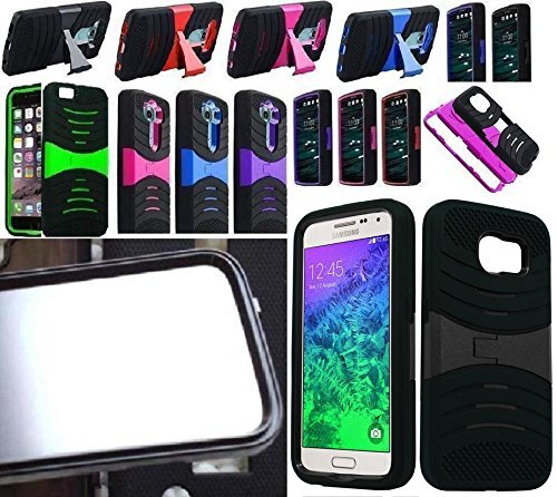 [ NP ARMOR ] BUILT IN SCREEN GUARD PROTECTOR Faceplate Phone Cover Case For Samsung Galaxy S6 / SM-G920V SM-G920T SM-G920P SM-G920R4 G920A G920 (Case Cover Protector Faceplate)