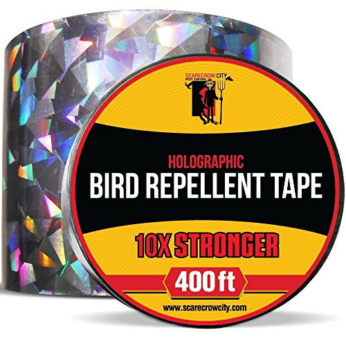 Bird Repellent Scare Tape | Heavy Duty 400ft Diamond Shaped