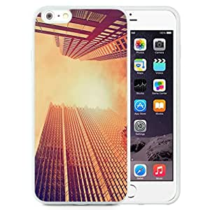 Fashionable Custom Designed iPhone 6 Plus 5.5 Inch Phone Case With Look Up Skyscrapers Sunset_White Phone Case