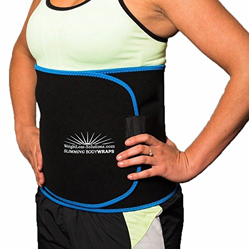 Weightloss Solutions Xl Wide Waist Trimmer Sauna Belt To Lose Belly Fat And Get A Slimmer Waistline  Slimming Body Wrap  Waist Shaper For Men And Women  2 Large   12  Wide   Fits Up To 55  Waist