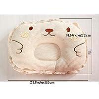 Easyinsmile Infant headrest prevent Flat round foam baby pillow