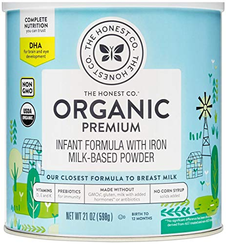 The Honest Company Organic Premium Infant Formula with Dha, Premium, 21 Ounce