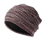 WUAI Clearance Deals,Mens Womens Knit Baggy Hats Warm Crochet Winter Wool Ski Beanie Casual Skull Caps (Coffee,Free Size)