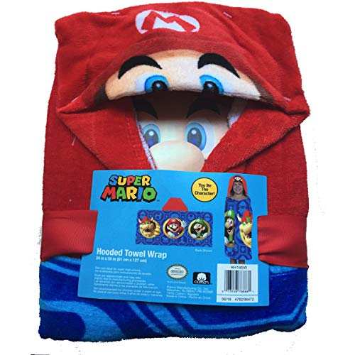 Super Mario Nintendo Hooded Towel Wrap Boys'