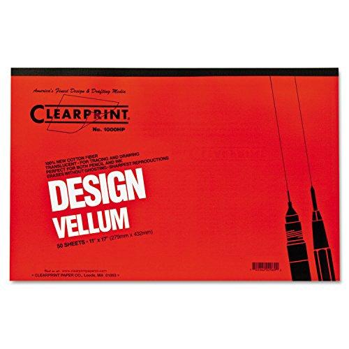 Clearprint 10001416 Design Vellum Paper, 16lb, White, 11 x 17, 50Sheets per (Clearprint 1000h Drafting Vellum)