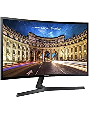 Samsung C24F396 Monitor per PC Desktop Curvo, 24'' Full HD, Base a V, HDMI/D-Sub, 60 Hz, 4 ms, Freesync, Nero