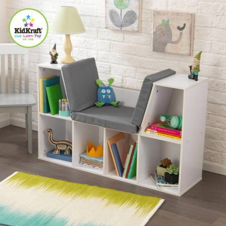 KidKraft Bookcase with Reading Nook Toy, White