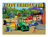 Bob the Builder edible party cake topper cake image