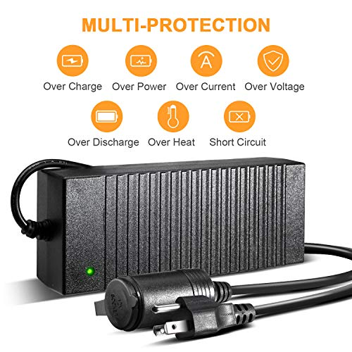 AstroAI AC to DC Converter, 10A 120W 110-220V to 12V Car Cigarette Lighter Socket AC DC Power Supply Adapter for Air Compressor Tire Inflator and Other 12V Devices Under 120W, Black by AstroAI (Image #2)