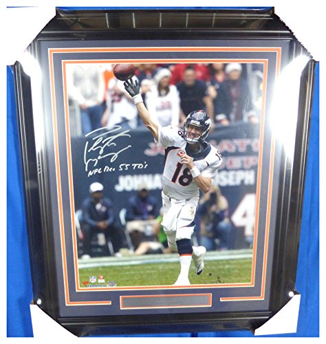 Peyton Manning Autographed Signed Framed 16x20 Photo Denver Broncos NFL Rec 55 TD's Fanatics Holo #0549660 - Certified Authentic ()