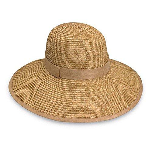 Womens Celeste Natural (Wallaroo Hat Company Women's Celeste Sun Hat - 100% Paper Braid - UPF50+, Natural)