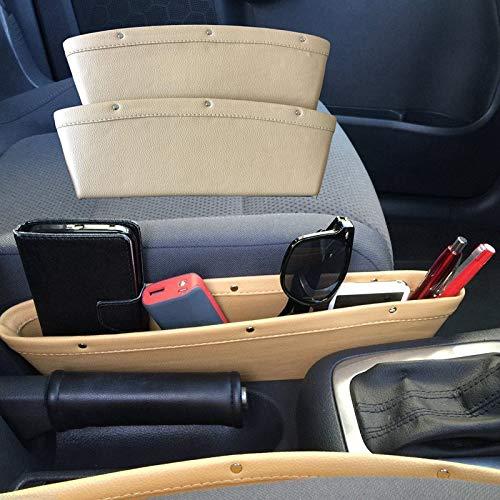 Urijk Storage Mobile Container Boxes Car Seat Organizer Box Slit Gap Pocket Storage Box lot Box Leather for Books/Phones/Cards ()
