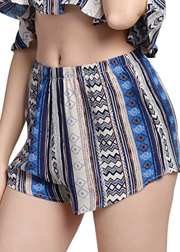 Blue Set Gal Boho Summer 10168 Romper Floral Piece Playsuits Printed Crop Top Women Shorts Embroided Outfits 2 Wink TdwZSqS