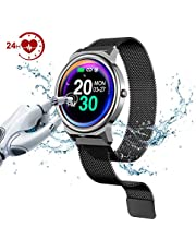 """LEMFO Fitness Tracker Watch, Smart Watches 1.3"""" Full Touch Screen, IP67 Waterproof Fitness Tracker with Heart Rate Monitor Sleep Monitor Step Counter Call SMS Remind for Men/Women iOS Android"""