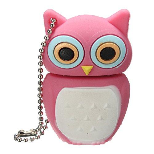 BestRunner(TM) USB 2.0 Flash Drive Novelty Cute Pink Owl Pen Data Drive Memory Stick Gift 32GB 16GB 8GB 4GB