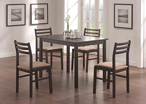 Monarch Specialties Veneer 5-Piece Dining Set, Cappuccino